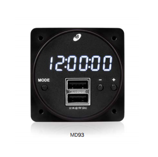 MD93 - Digital Clock/USB Charger